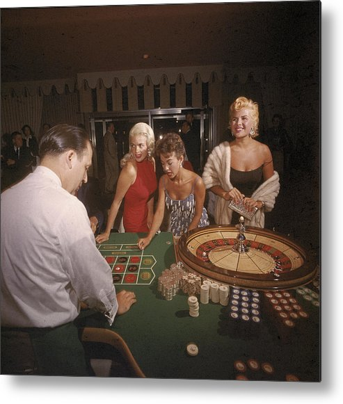 Singer Metal Print featuring the photograph Stars At The Roulette Table by Loomis Dean