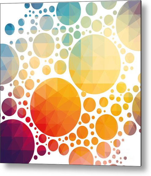 Color Metal Print featuring the digital art Vector Illustration Of Colorful by Artem Kovalenco