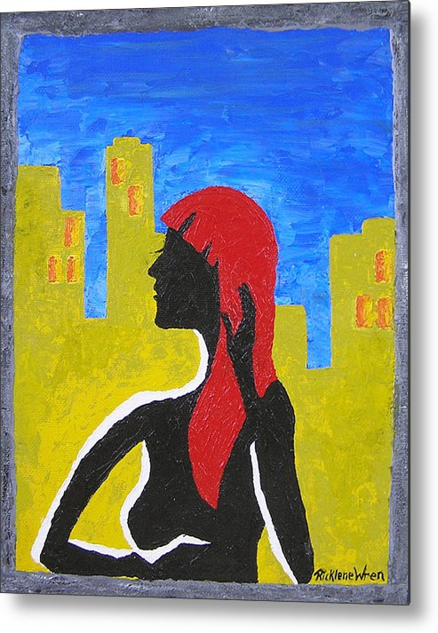 City Metal Print featuring the print Silence In The City by Ricklene Wren