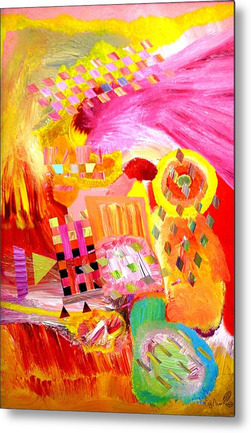 Acrylic Metal Print featuring the painting Fire In My Heart by Eric Devan