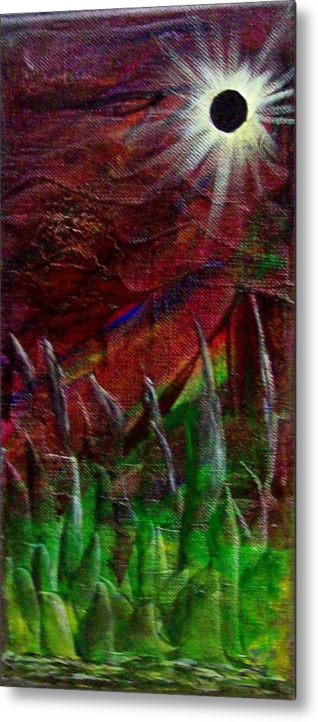 Abstract Metal Print featuring the painting Eclpise II by Tony Rodriguez