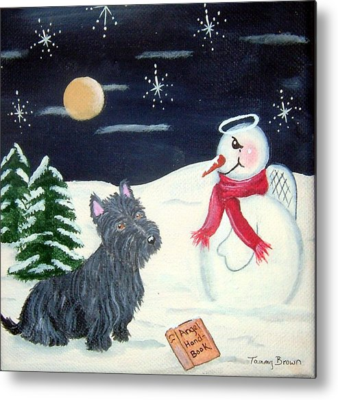 Dog Metal Print featuring the painting Becoming An Angel by Tammy Brown