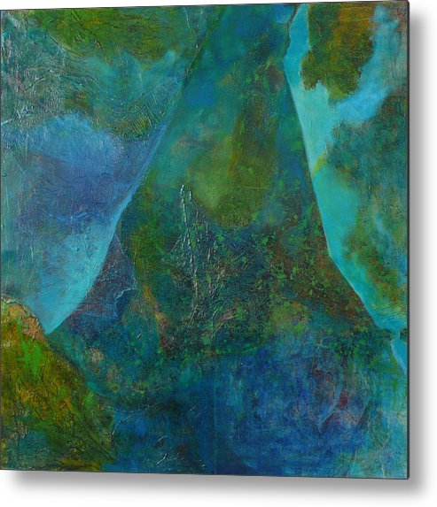 Under Sea Landscape Metal Print featuring the print Blue .9. by Meltem Quinlan