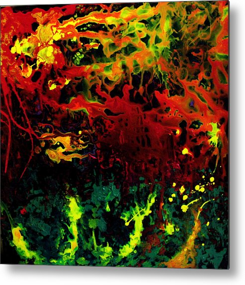 Abstract Metal Print featuring the painting Stella by Jess Thorsen