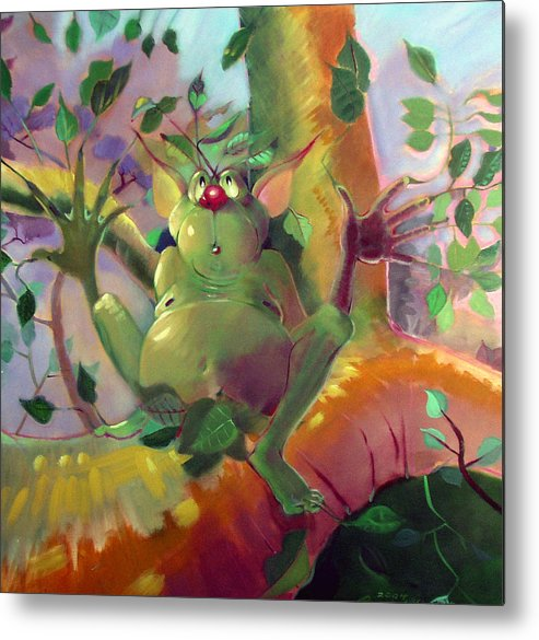 Fantasy Metal Print featuring the painting Treeman by Patrick McClintock