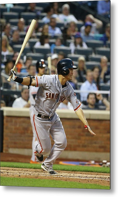 People Metal Print featuring the photograph San Francisco Giants V New York Mets by Al Bello