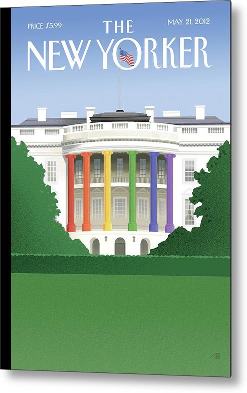 President Metal Print featuring the painting Spectrum of Light by Bob Staake