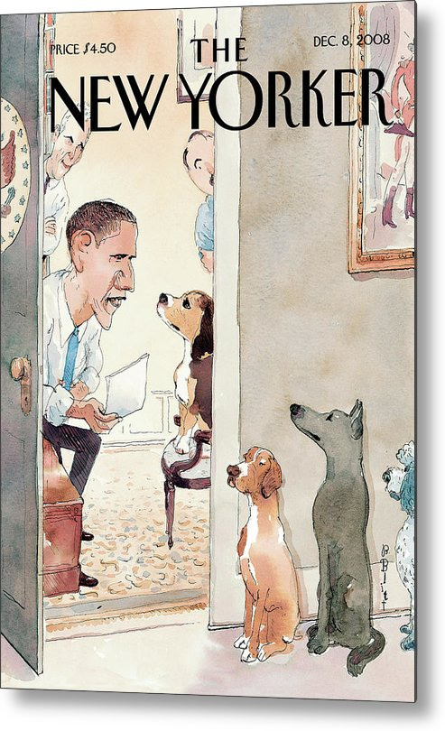 Obama Metal Print featuring the painting Vetting by Barry Blitt
