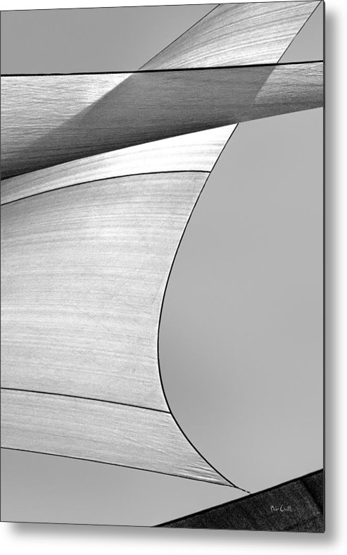 Abstract Metal Print featuring the photograph Sailcloth Abstract Number 4 by Bob Orsillo