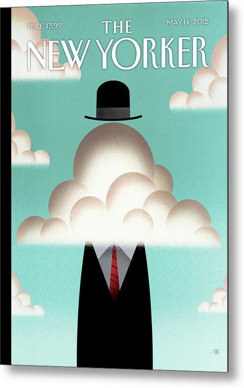 Clouds Metal Print featuring the painting The Cloud by Bob Staake