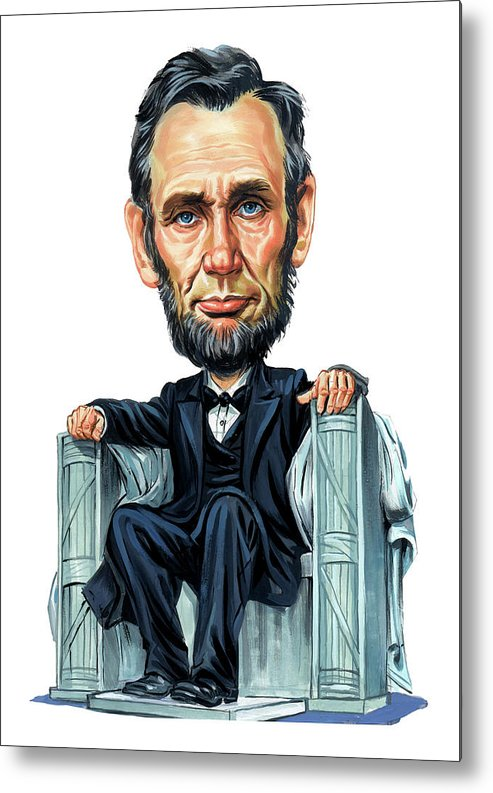 Abraham Lincoln Metal Print featuring the painting Abraham Lincoln by Art