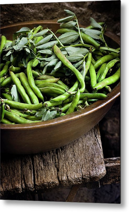 Outdoors Metal Print featuring the photograph Beans by Bruno Ehrs