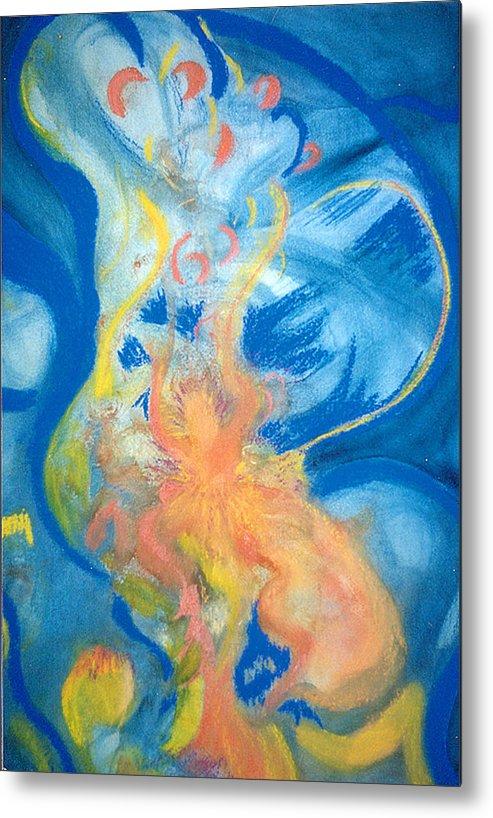 Music Metal Print featuring the painting Brzilian Rhythms by Phoenix Simpson