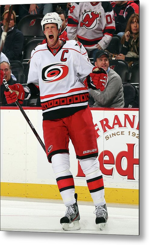 National Hockey League Metal Print featuring the photograph Carolina Hurricanes V New Jersey Devils by Elsa
