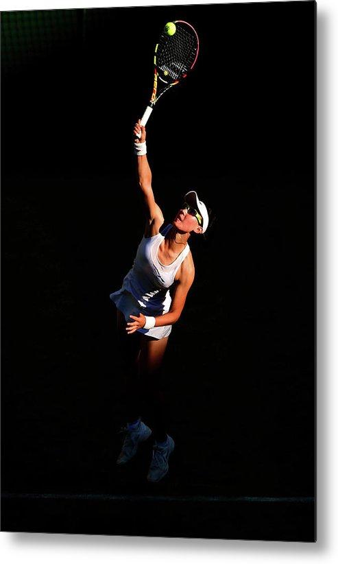 Zheng Saisai Metal Print featuring the photograph Day Two The Championships - Wimbledon by Shaun Botterill