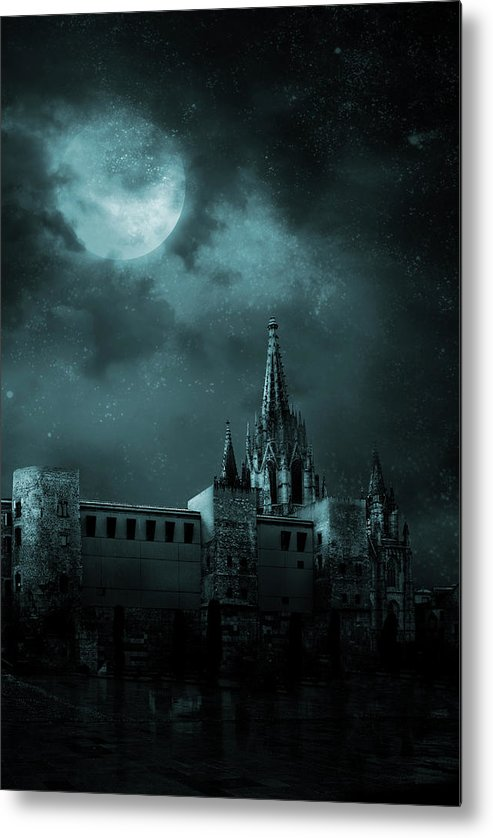 Gothic Style Metal Print featuring the photograph Ghosts In The Empty Town by Vladgans