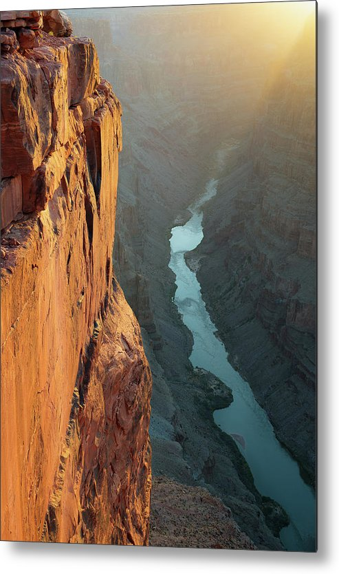 Scenics Metal Print featuring the photograph Grand Canyon Toroweap Point Morning by Kjschoen