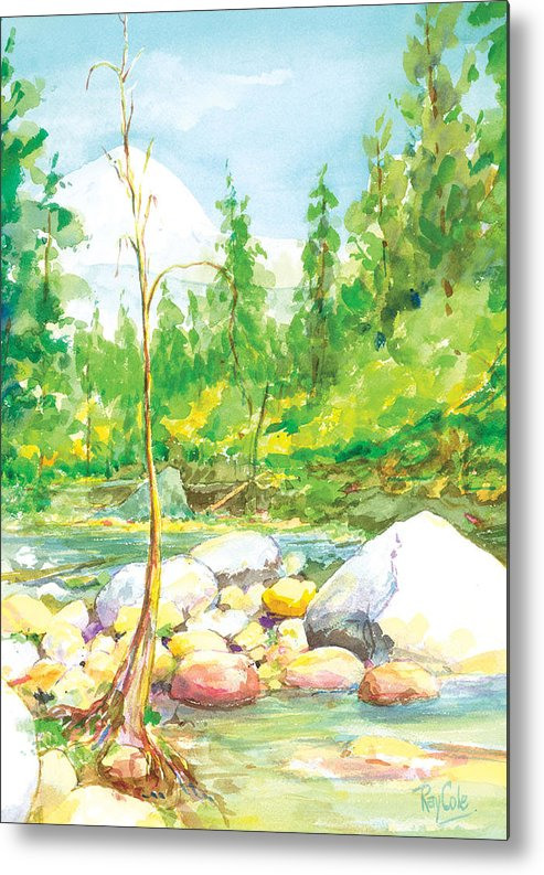 Creek Metal Print featuring the painting Happy Isles by Ray Cole