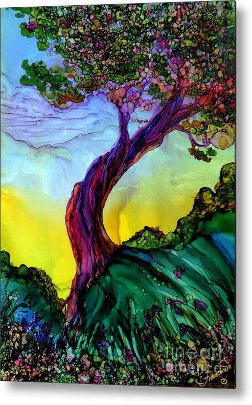 Landscape Metal Print featuring the painting Life is Good by Francine Dufour Jones