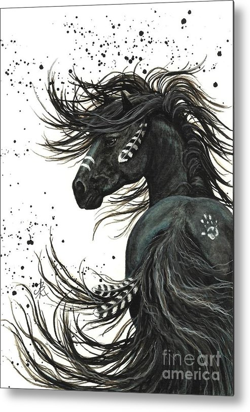 Mm65 Metal Print featuring the painting Majestic Spirit Horse I by AmyLyn Bihrle