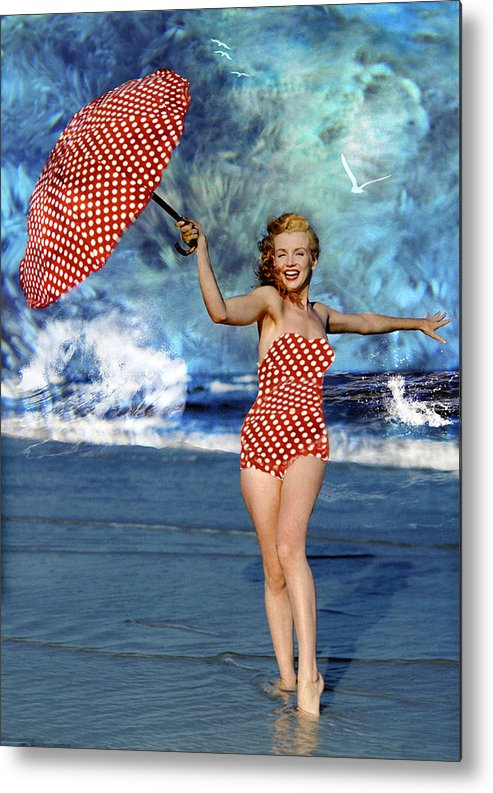 Marilyn Monroe Naked Canvas Print Art Sea Artwork Lady Monroe Beach Photo Art
