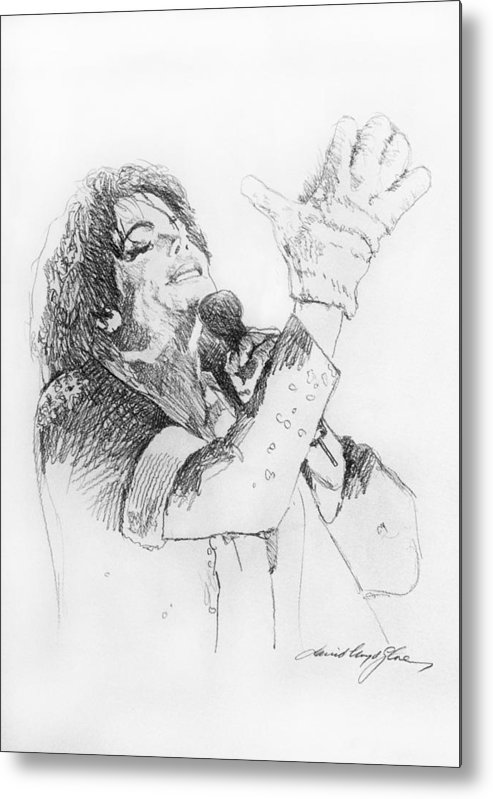 Michael Jackson Metal Print featuring the painting Michael Jackson Passion Sketch by David Lloyd Glover