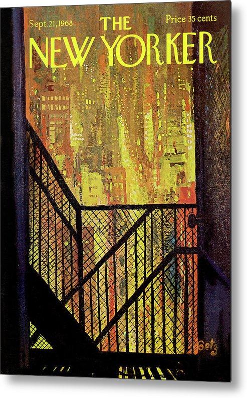 Arthur Getz Agt Metal Print featuring the painting New Yorker September 21st, 1968 by Arthur Getz