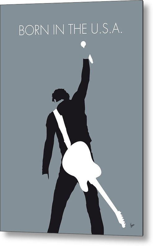 Bruce Metal Print featuring the digital art No017 MY Bruce Springsteen Minimal Music poster by Chungkong Art