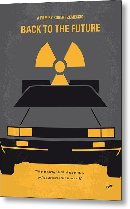 Back Metal Print featuring the digital art No183 My Back to the Future minimal movie poster by Chungkong Art