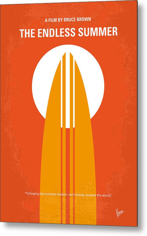 Endless Metal Print featuring the digital art No274 My The Endless Summer minimal movie poster by Chungkong Art