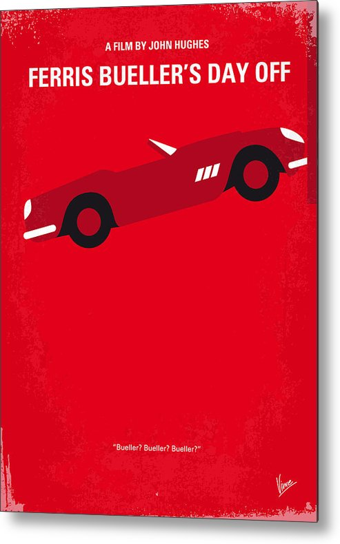 Ferris Metal Print featuring the digital art No292 My Ferris Bueller's day off minimal movie poster by Chungkong Art