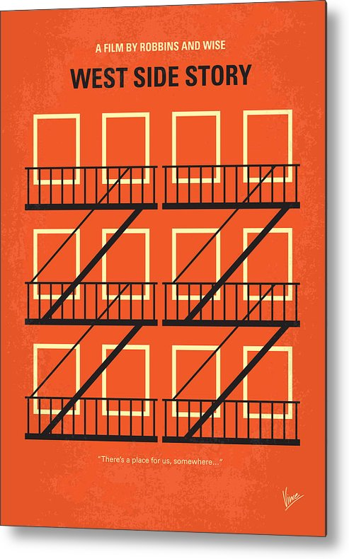 West Metal Print featuring the digital art No387 My West Side Story minimal movie poster by Chungkong Art