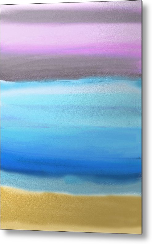 Abstract Metal Print featuring the painting On the Beach by Eliza Donovan