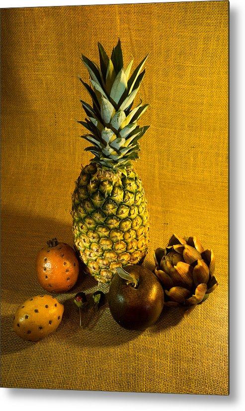 Pineapple Metal Print featuring the photograph Pineapple Still Life by Douglas Barnett