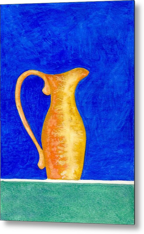 Still Life Metal Print featuring the painting Pitcher 2 by Micah Guenther