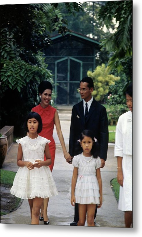 Royalty Metal Print featuring the photograph Queen Sirikit And Members Of The Thai Royal by Henry Clarke