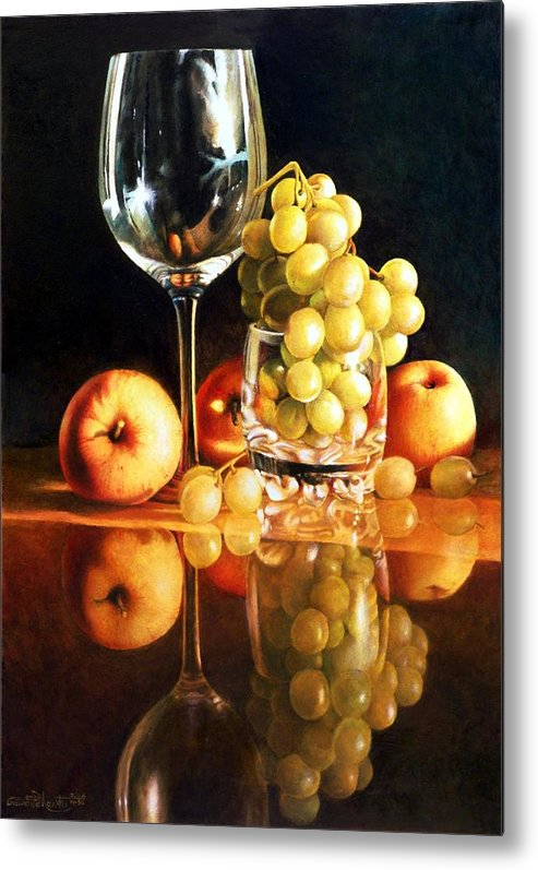 Giuseppe Mariotti Metal Print featuring the painting Reflections by Giuseppe Mariotti