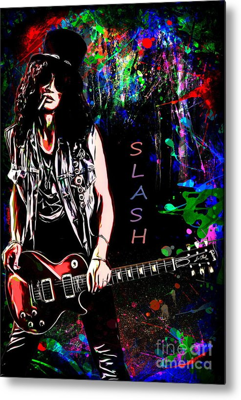 Slash Metal Print featuring the painting S L A S H by Andrzej Szczerski