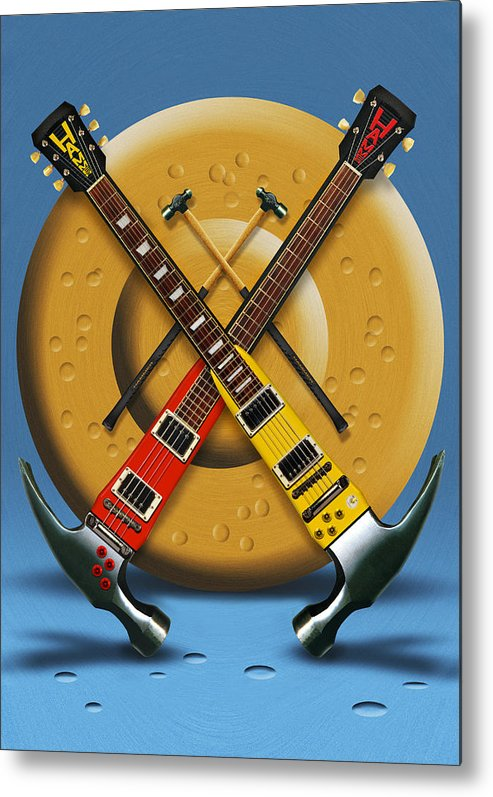 Rock And Roll Metal Print featuring the photograph The Hammer by Mike McGlothlen