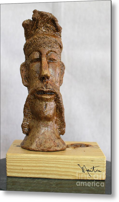 Man Metal Print featuring the sculpture The Man Of Peace by Art Mantia