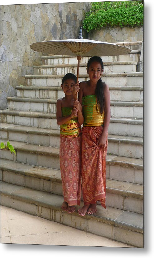 Bali Metal Print featuring the photograph Two Bali Beauties descended by Jack EdsonAdams