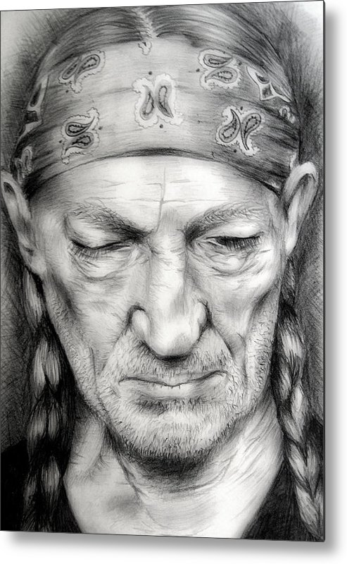 Willie Metal Print featuring the drawing Willie by Stephanie LeVasseur