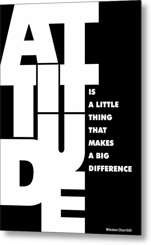 Motivational Art Metal Print featuring the digital art Winston Churchill Inspirational Typographic Quotes poster by Lab No 4 - The Quotography Department