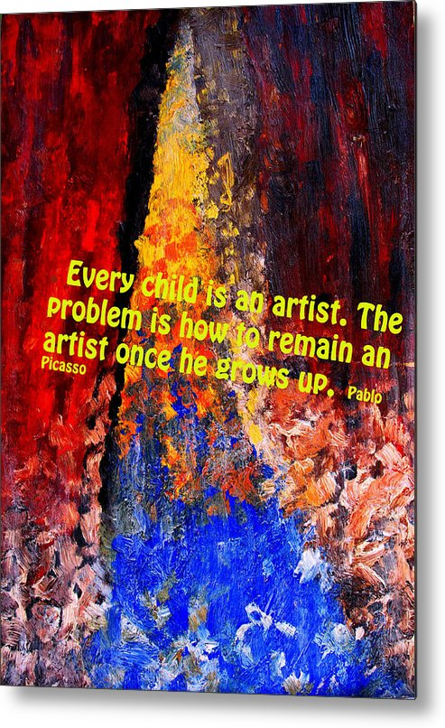 Abstract Metal Print featuring the photograph Every Child by Ian MacDonald