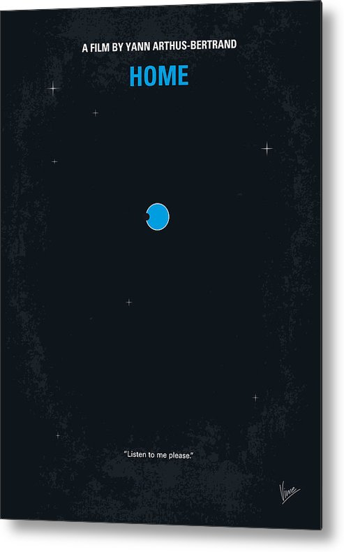 Home Metal Print featuring the digital art No037 My home minimal movie poster by Chungkong Art
