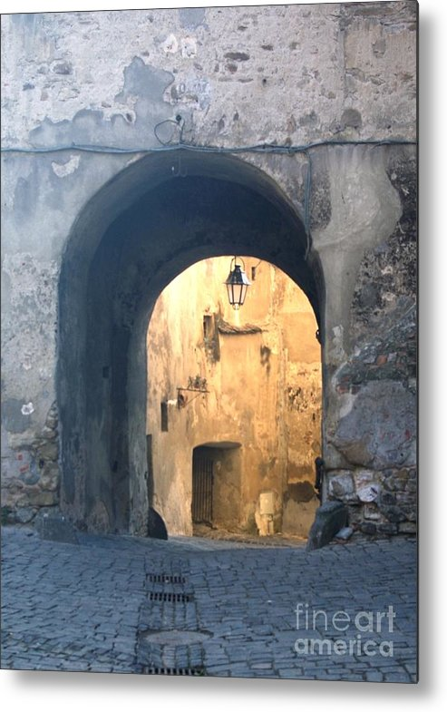 Sighisoara Metal Print featuring the photograph Old town gate 1 by Amalia Suruceanu
