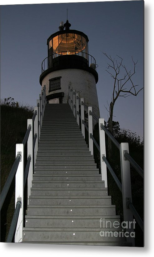 Paranormal Metal Print featuring the photograph Owls Head Light by Brenda Giasson
