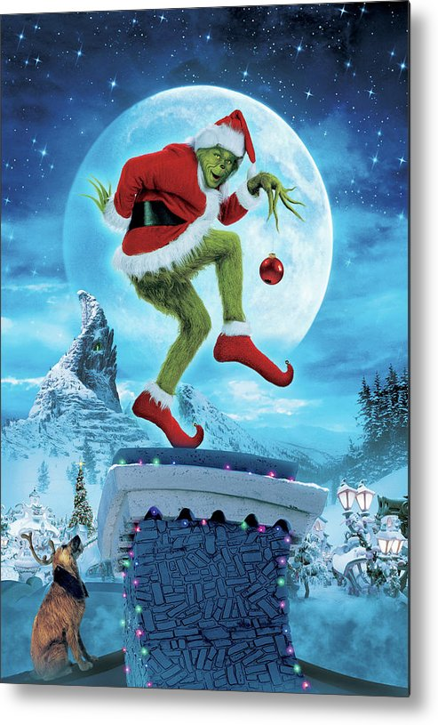 How The Grinch Stole Christmas 2000 Metal Print By Geek N Rock