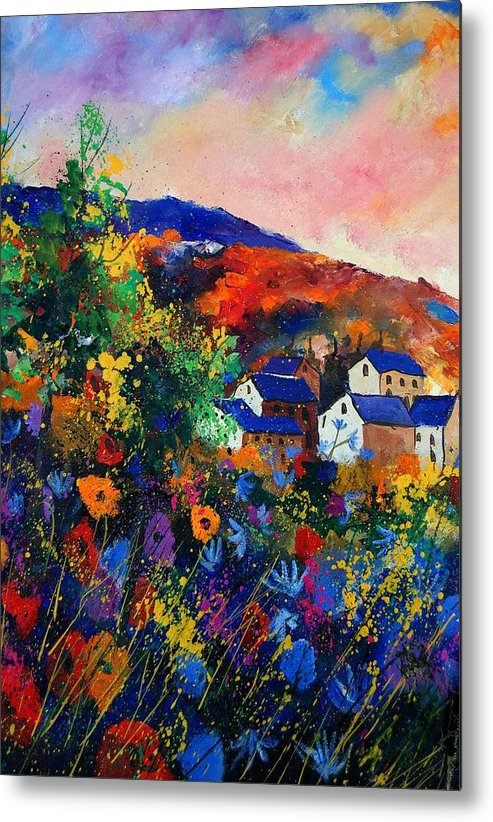 Landscape Metal Print featuring the painting Summer by Pol Ledent