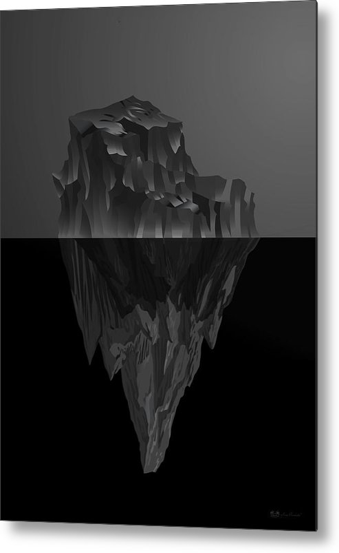 'black On Black' By Serge Averbukh Collection Metal Print featuring the photograph The Black Iceberg by Serge Averbukh